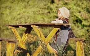 Picture nature, children, table, girl, child, shop