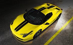 Picture Ferrari, Italy, Ferrari, Before, Yellow, Spider, 458 Italia, Capristo, The View From The Top, Yellow