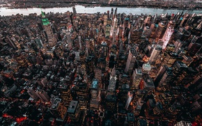 Picture the city, building, home, USA, New York, skyscrapers