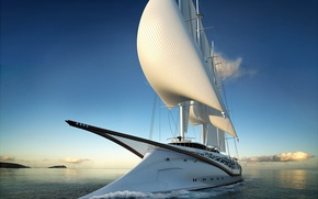Picture the ocean, stay, yacht, concept, sails, journey, Phoenicia, sailing yacht