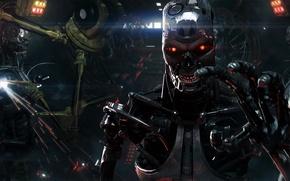 Picture metal, steel, plant, robot, hand, cyborg, Terminator, Terminator, T-800, skynet, Skynet