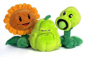 Picture the game, toys, sunflower, plants, plush, Plants vs Zombies, gorohostrel, zucchini