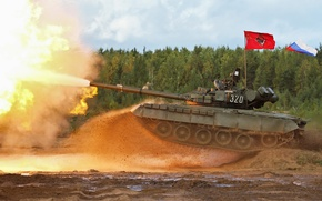 Picture shot, tank, Russia, military equipment, MBT, T-80 BV