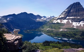 Picture landscape, mountains, nature, lake, view, height
