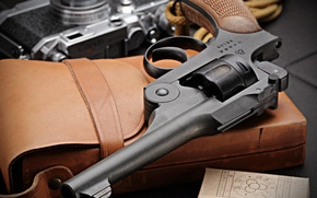 Picture macro, weapons, trunk, revolver