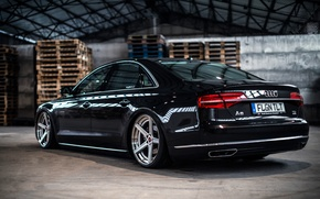 Picture Audi, Audi, TDI, wheels, black, rearside