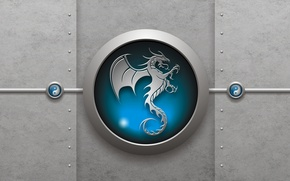 Wallpaper dragon, sign, Yin