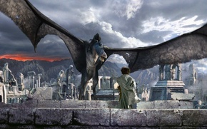 Wallpaper the ruins, monster, The Lord Of The Rings