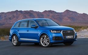 Picture Dark Blue, Audi Q7, 2017