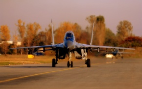 Wallpaper The MiG-29, Multipurpose, Fourth, The rise, Generation, The airfield, Fighter, The plane