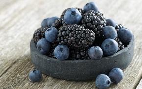 Picture blue, berries, BlackBerry, blueberries
