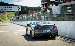 Picture car, machine, speed, track, Nissan, GT-R, speed, track