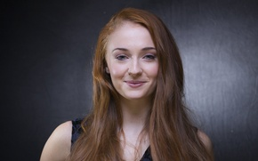 Picture face, actress, red, Sophie Turner, Sophie Turner