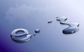 Picture water, macro, the world, drop, map, spot, hi-tech, e-mail