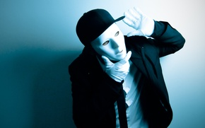 Picture style, background, movement, dance, mask, costume, dancer, dance, MIM, dancer, jabbawockeez, jabbawockeez, mim