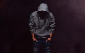 Picture hood, guy, sweatshirt
