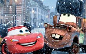 Wallpaper Walt Disney, winter, sport, machine, Cars 2, Cars 2, From Russia with love, From Russia ...