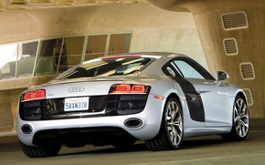 Wallpaper Audi R8, auto, grey