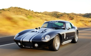 Picture Shelby, Coupe, 2009, Cobra, Daytona, Shelby Cobra Daytona Coupe, Superformance, Black car, front motion