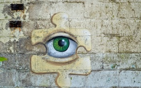 Picture eyes, background, wall