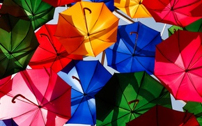 Picture bright, umbrellas, colorful