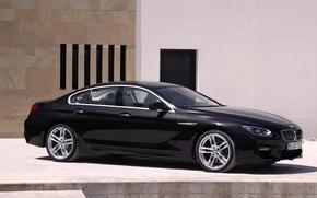 Picture Auto, Black, BMW, Machine, Boomer, BMW, Day, Sedan, 6 Series, Side view