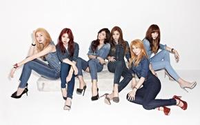 Picture girl, music, Asian, legs, girls, body, South Korea, k-pop, Hello Venus