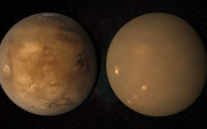 Picture surface, storm, planet, dust, Mars, Mars