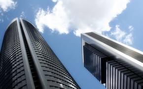 Picture the sky, building, skyscrapers