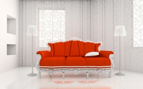 Picture red, sofa, Royal