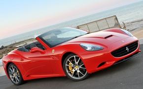 Picture machine, Ferrari, red, beautiful, Ferrari, California