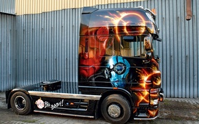 Picture Truck, Scania, Other Technics, Big Baby, Customize Paint