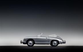 Wallpaper toys, Porsche 356B, grey