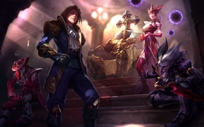 Wallpaper lol, League of Legends, ezreal, mordekaiser, Demon Jester, syndra, Shaco