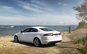 Picture Jaguar, The sun, Sea, Machine, Jaguar, Desktop, Car, Car, Beautiful, Sun, White, Wallpapers, Beautiful, Sea, …