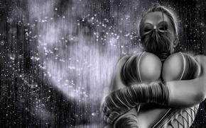 Picture the dark background, mask, mortal kombat, kitana, kitana