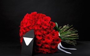 Picture letter, gift, romance, roses, bouquet, colorful, red, March 8, beautiful, beautiful, the envelope, luxury, lovely, …