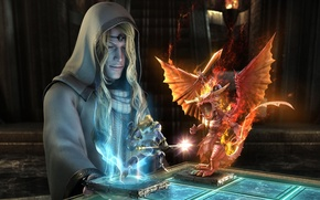Picture Sorceress, Magic, Chess
