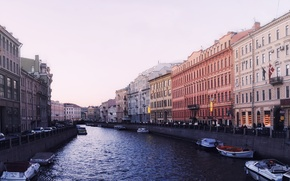 Picture the city, fog, river, Peter, Saint Petersburg, sink, Saint-Petersburg, channels