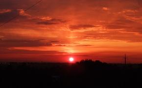 Picture the sun, sunset, orange