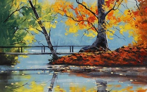 Wallpaper ART, FIGURE, ARTSAUS, AUTUMN LAKE
