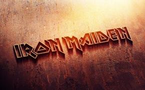 Picture metal, logo, rust, logo, iron, iron maiden, heavy metal