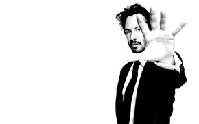 Wallpaper hand, b/W, male, actor, Keanu Reeves, black and white, Keanu Reeves