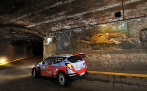 Picture The tunnel, Hyundai, Mexico, WRC, Rally, i20, Neuville