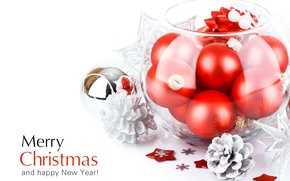 Picture holiday, balls, toys, New Year, Christmas, red, Christmas, bumps, congratulations, New Year, Christmas