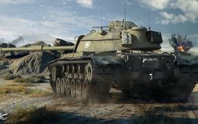 Picture tank, American, average, World of Tanks, M48A1 Patton