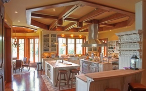 Picture design, style, Villa, interior, kitchen, dining room, living space