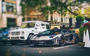 Picture the city, England, London, Lamborghini, Parking, Gaelic, Aventador, LP760-4, Oakley Design, AlRashed Carbon Edition