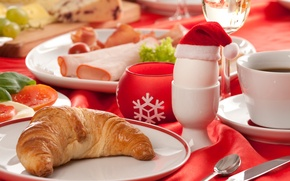 Picture table, holiday, coffee, Breakfast, New Year, Christmas, Happy New Year, food, cup, Merry Christmas, holiday, ...