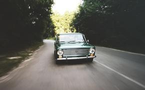 Picture auto, forest, retro, Lada, VAZ, 2101, low classic